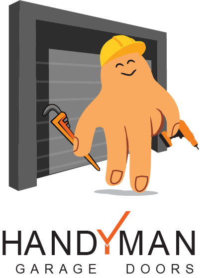 Handyman garage door logo